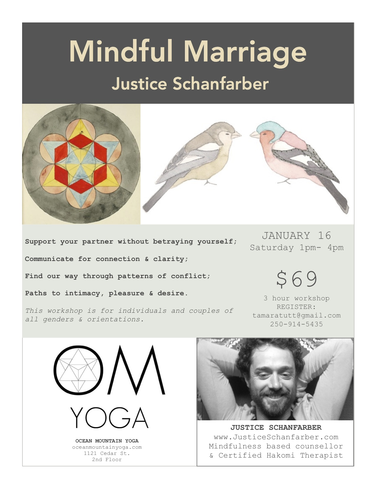 Mindful Marriage workshop Justice Schanfarber OMY Jan 16, 2016